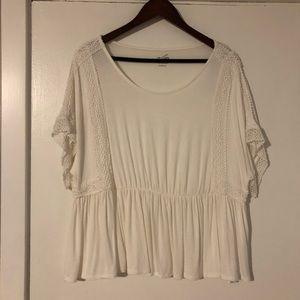 Off White Crochet Top